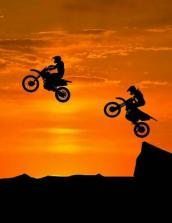 Motocross Sunset Notebook - College Ruled