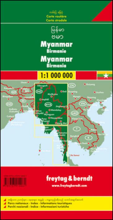 Myanmar-Burma 1:1.000.000
