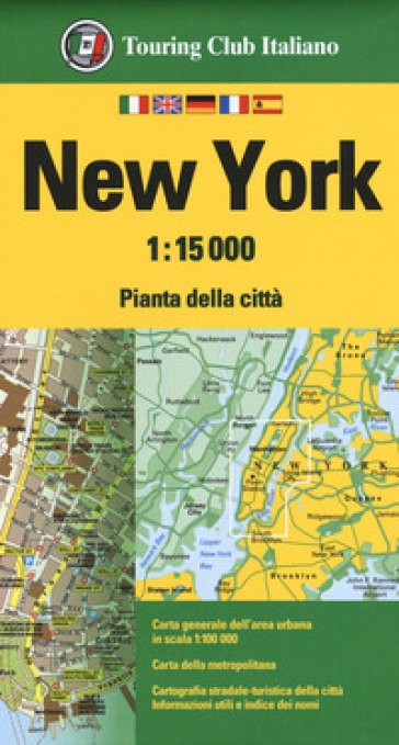 New York 1:15.000. Pianta della città