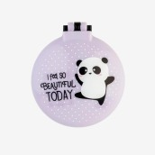 Nice Hair -  Hairbrush With Mirror - Panda
