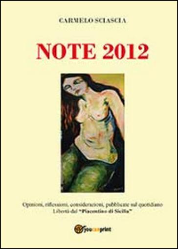Note 2012 - Carmelo Sciascia |