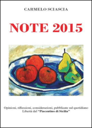 Note 2015 - Carmelo Sciascia |