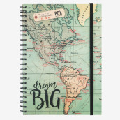 Notebook With Spiral - A4 - Map