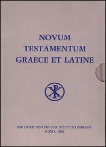 Novum testamentum graece et latine apparatu critico instructum - A. Merk pdf epub