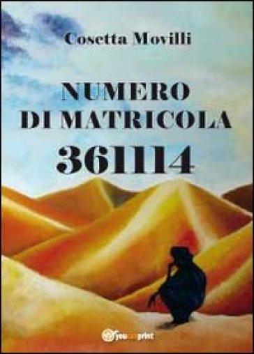 Numero di matricola 361114 - Cosetta Movilli  