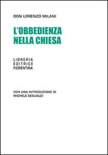 Obbedienza nella chiesa (L') - Lorenzo Milani  