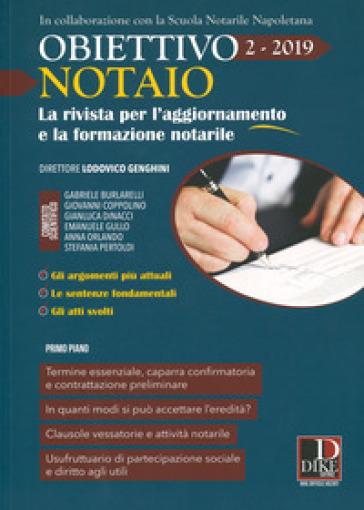 Obiettivo notaio. La rivista per l'aggiornamento e la formazione notarile (2019). 2.
