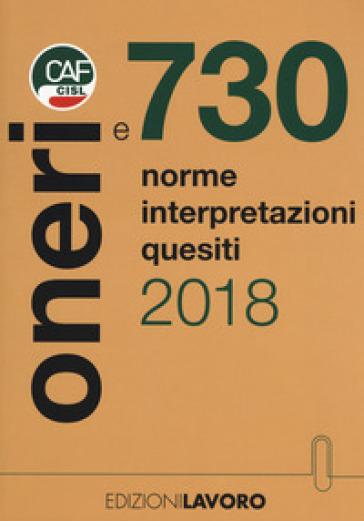 Oneri e 730. Norme interpretazioni quesiti - F. Galvanini pdf epub