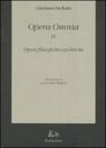 Opera omnia. 9.Opere filosofiche e politiche - Girolamo De Rada |
