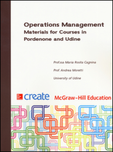 Operation management. Materials for courses in Pordenone and Udine