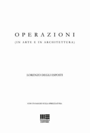 Operazioni (in arte e in architettura)