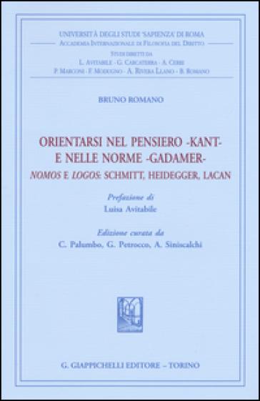 Orientarsi nel pensiero-Kant-e nelle norme-Gadamer-Nomos e Logos: Schmitt, Heidegger, Lacan