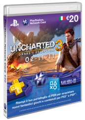 PS3 PSP Cards Uncharted 3 PSN Sony 20E
