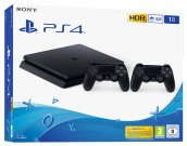 PS4 1TB F Chassis Black + DS4V2