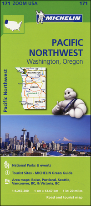 Pacific Northwest. Washington, Oregon 1:1.267.200