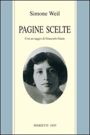Pagine scelte - Simone Weil |