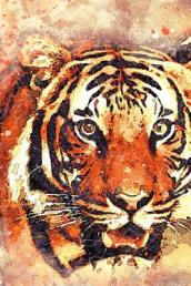 Painted Tiger Face Big Cat Journal