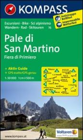 Pale di San Martino. Adatto a GPS. DVD-ROM. Digital map