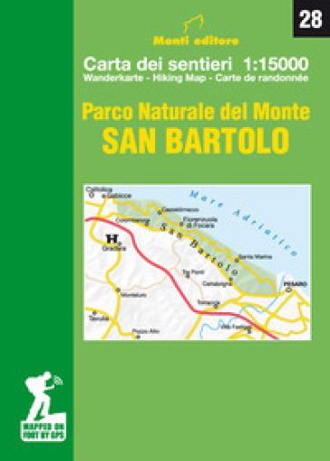 Parco Naturale del Monte San Bartolo. Carta dei sentieri 1:15.000. Ediz. italiana, inglese, francese e tedesca