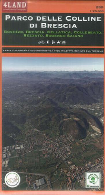 Parco delle colline di Brescia. Bovezzo, Brescia, Cellatica, Collebeato, Rezzato, Rodengo Saiano. Carta escursionistica 1:25.000 - Remo Nardini |
