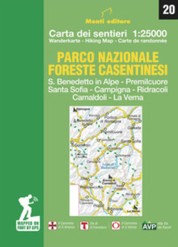 Parco nazionale delle foreste casentinesi. Carta dei sentieri 1:25.000. Ediz. italiana, inglese, francese e tedesca - Raffaele Monti | Thecosgala.com