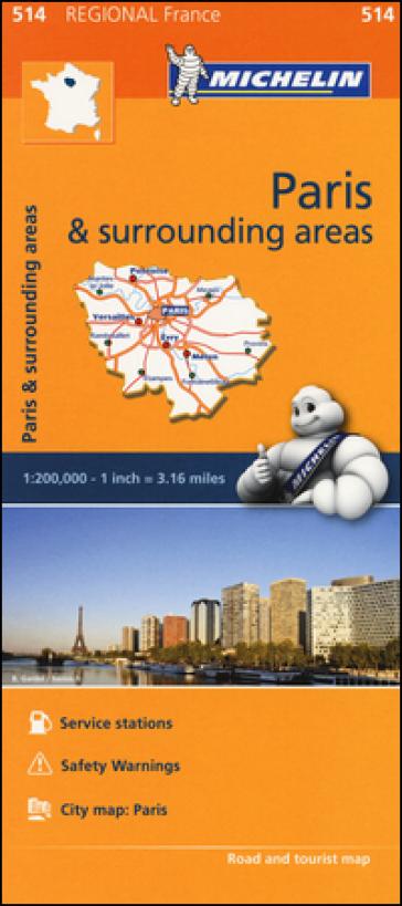 Paris & surrounding areas-Ile-de-France & surrounding areas 1:200.000