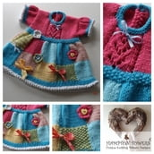 Patchwork Judy Baby Dress Knitting Pattern C004
