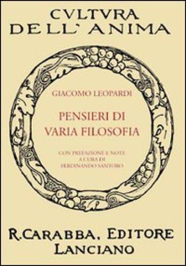 Pensieri di varia filosofia - Giacomo Leopardi   Ericsfund.org