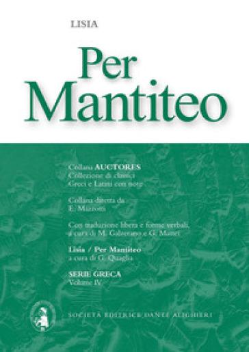 Per Mantiteo - Lisia  