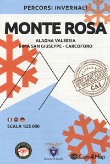 Percorsi invernali Monte Rosa. Alagna Valsesia, Rima S. Giuseppe e Carcoforo. Scala 1:25.000. Ediz. italiana, inglese e tedesca -  pdf epub