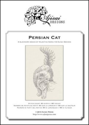 Persian cat. Blackwork design - Valentina Sardu | Rochesterscifianimecon.com