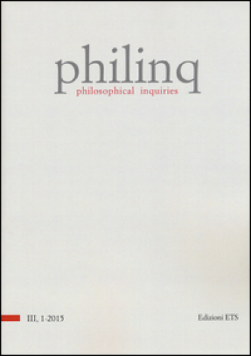 Philinq. Philosophical inquiries (2015). 1.