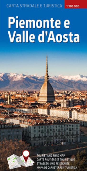 Piemonte e Valle d'Aosta. Carta stradale e turistica plastificata 1:300.000