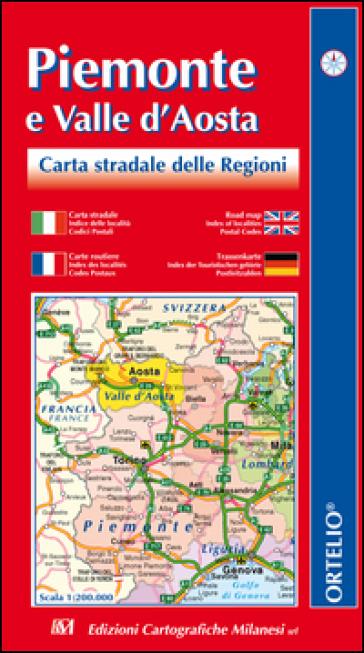 Piemonte e valle d'Aosta. Carta stradale 1:200.000