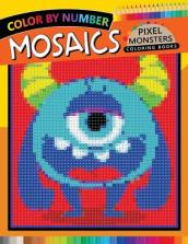 Pixel Monsters Mosaics Coloring Books