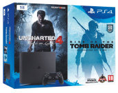 Playstation 4 Slim 1TB+Unch4+Tomb Raider