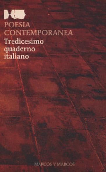 Poesia contemporanea. Tredicesimo quaderno italiano - F. Buffoni | Kritjur.org
