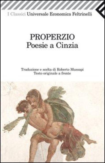 Poesie a Cinzia. Testo latino a fronte - Sesto Properzio pdf epub