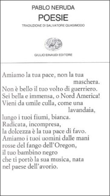 Poesie. Testo spagnolo a fronte - Pablo Neruda |