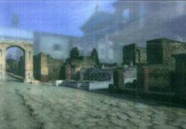 Pompei, Tempio della Fortuna: stato attuale e ricostruzione
