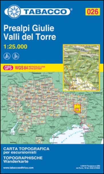 Prealpi Giulie. Valli del Torre 1:25.000