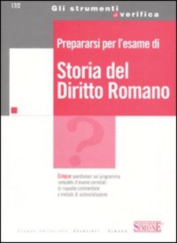 Prepararsi per l'esame di storia del diritto romano