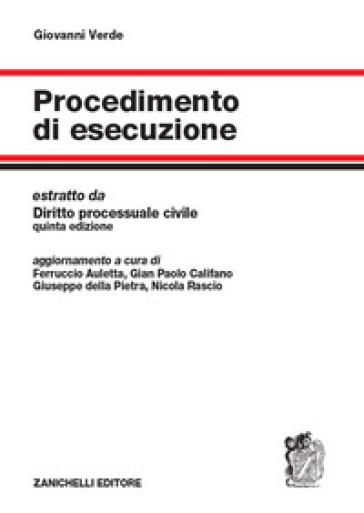 Procedimento di esecuzione - Giovanni Verde  