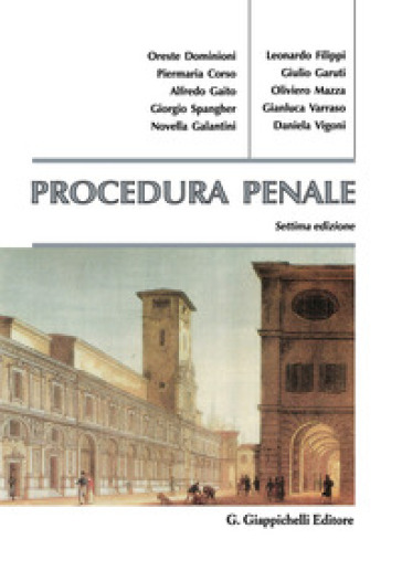 Procedura penale -  pdf epub