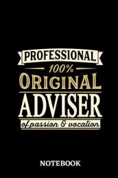 Professional Original Adviser Notebook of Passion and Vocation