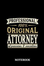Professional Original Attorney Notebook of Passion and Vocation