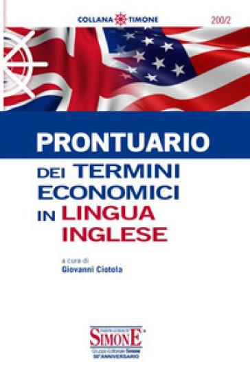 Prontuario dei termini economici in lingua inglese - G. Ciotola   Jonathanterrington.com