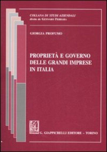 Proprietà e governo delle grandi imprese in italia - Giorgia Profumo |