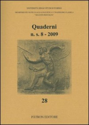 Quaderni del Dipartimento di filologia linguistica e tradizione classica (2009). 8.