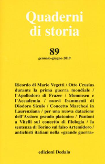 Quaderni di storia (2019). 89.